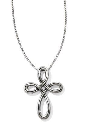 Brighton Interlock Petite Cross Necklace