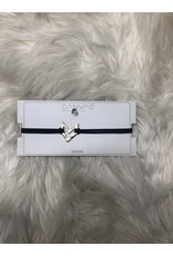 CANVAS Navy Suede Cut Out Chev Choker