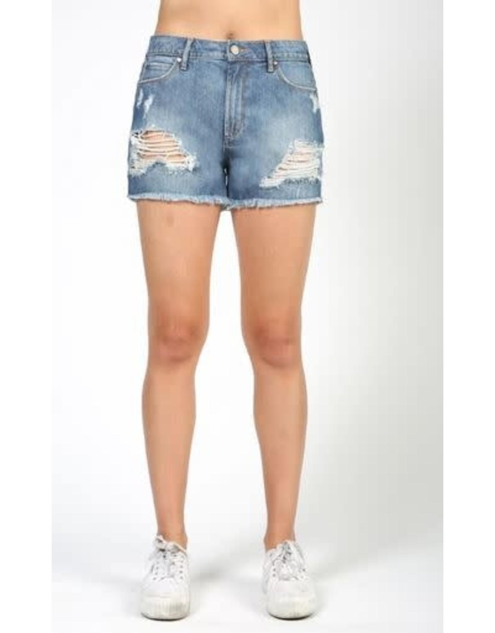 Denim Distressed Shorts
