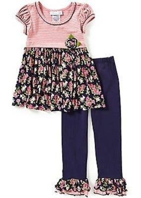 Bonnie Jean Pink Stripes with Floral