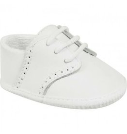 Baby Deer White Leather Crib Shoe