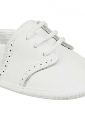 Baby Deer White Leather Crib Shoe