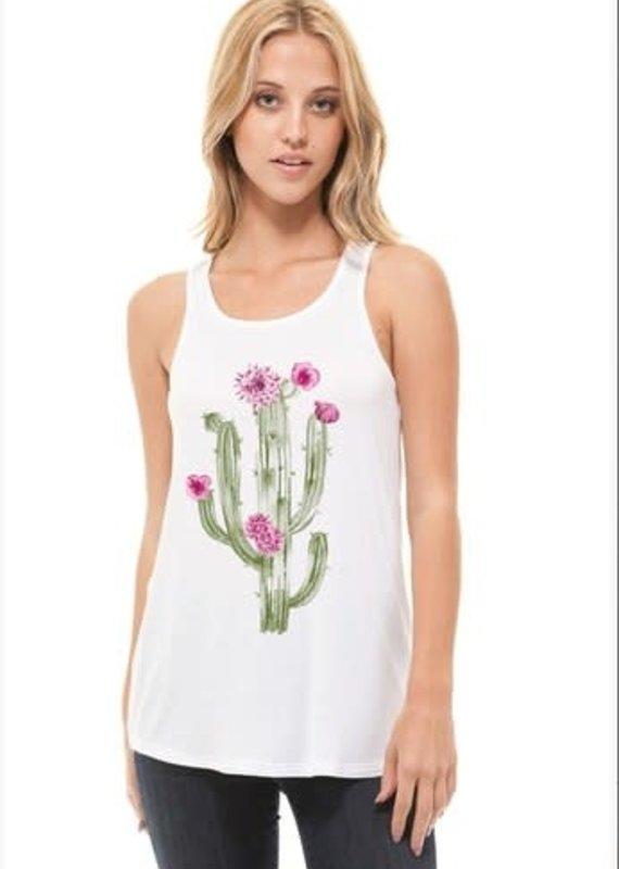 Crush Cactus Printed Tank Top