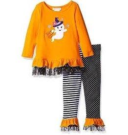 Bonnie Jean Orange Ghost w/Star Tulle Trim