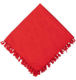 Fiesta Scarlet Fringed Napkin