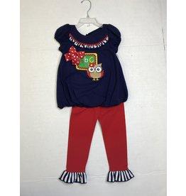 Bonnie Jean Navy Back to School Owl Set