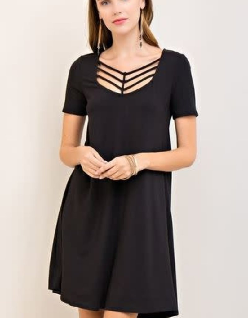Entro Black Front Cross Dress