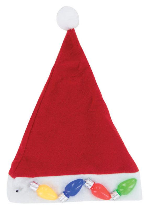 DM Merchandising Jumbo Light Up Santa Hat