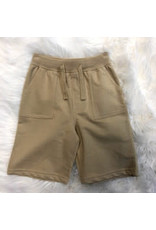 Global Tex Kids Basic Khaki Pull On Terry Short