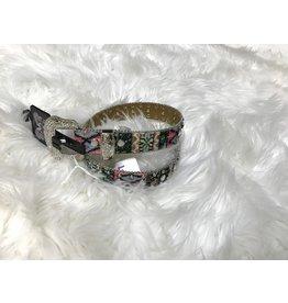 3D Belt Company Tribal Print Studded Belt