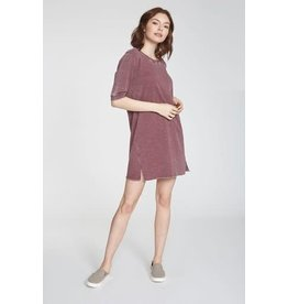Another Love Maroon T-Shirt Dress