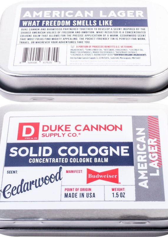 Duke Cannon Supply Co Budweiser Solid Cologne