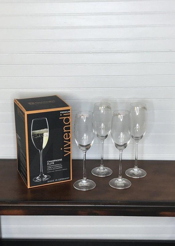 FJ WHalen Vivendi Champagne Flutes