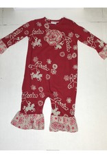Coconut Creations Girls Rodeo Ruffle Longtail- Red