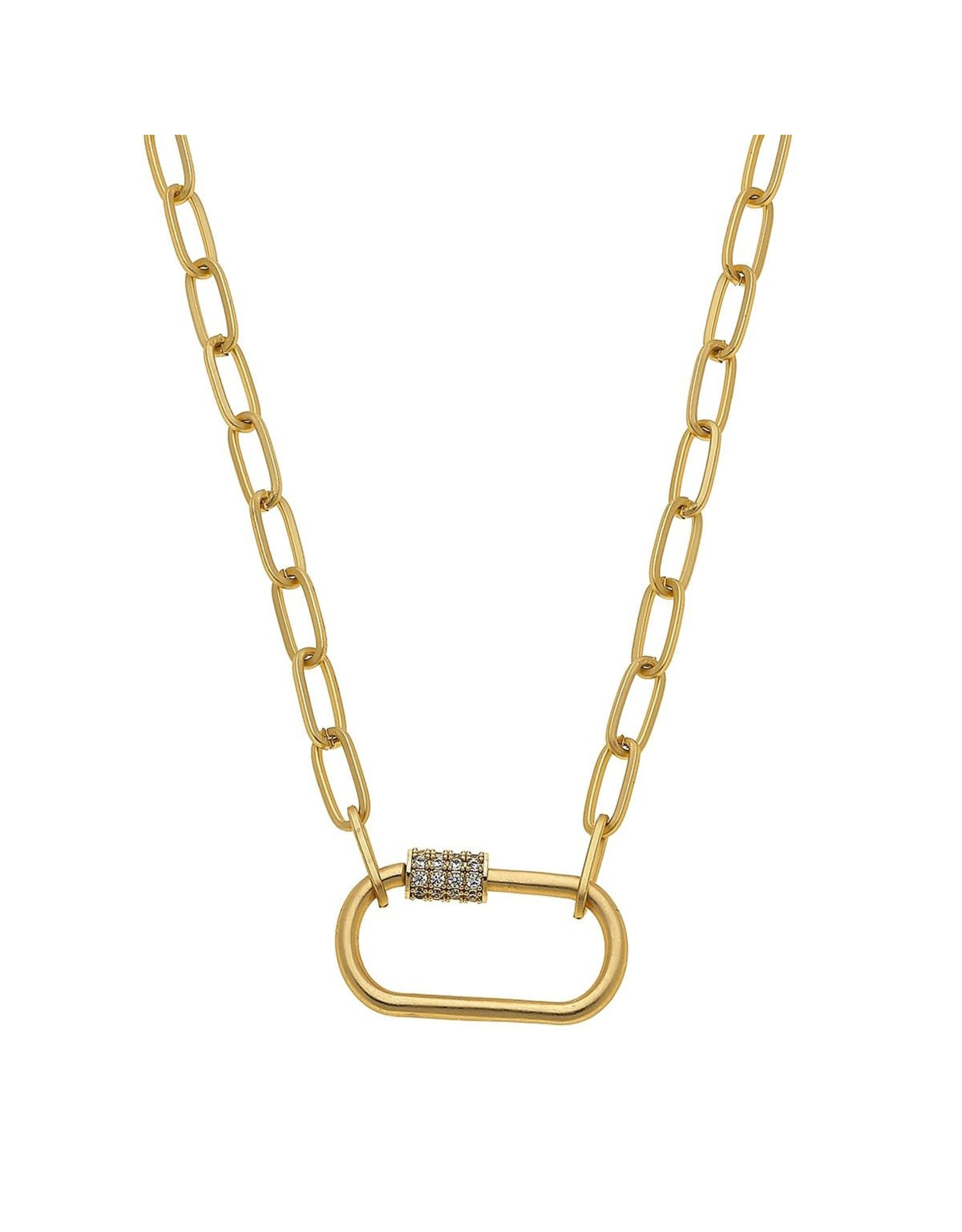 CANVAS Lola Oval Screw Lock Necklace-Gold
