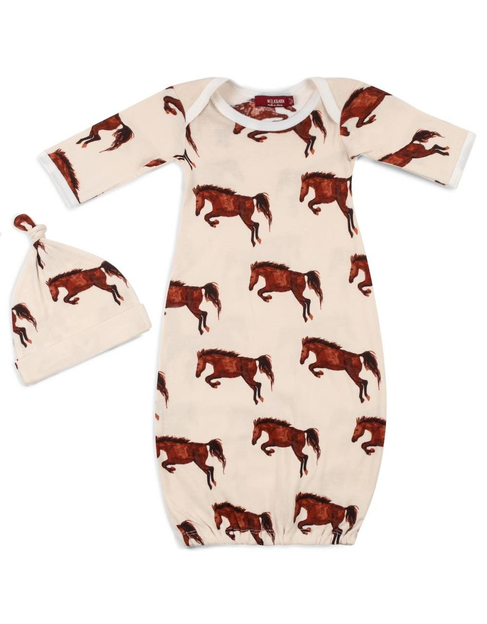 MilkBarn Bamboo Gown and Hat Set-Newborn