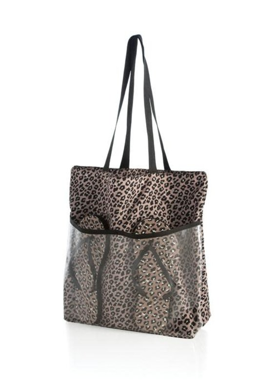 ShiraLeah Leopard Tote and Flip-Flop Set