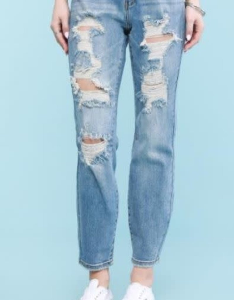 Judy Blue Destroyed Boyfriend Jeans