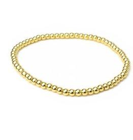 HR Fashion Jewelry Gold Beaded Stretch Bracelet