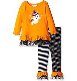 Bonnie Jean Orange Ghost w/ Star Tulle Trim Set