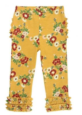 Rufflebutts Golden Gardenia Leggings