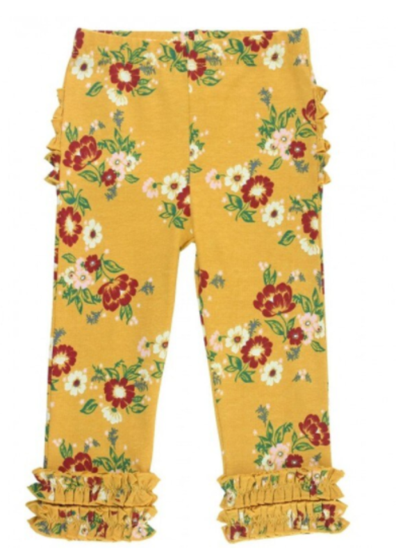 Rufflebutts Golden Gardenia Leggings