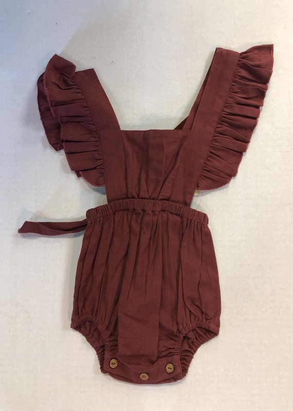Yo Baby Burgundy Cross Back Onesie