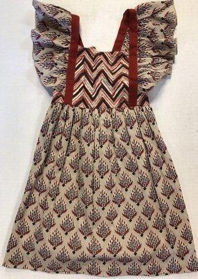 Yo Baby Printed Toddler Dress-3T