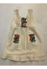 Yo Baby Ivory Embroidered Dress-2T