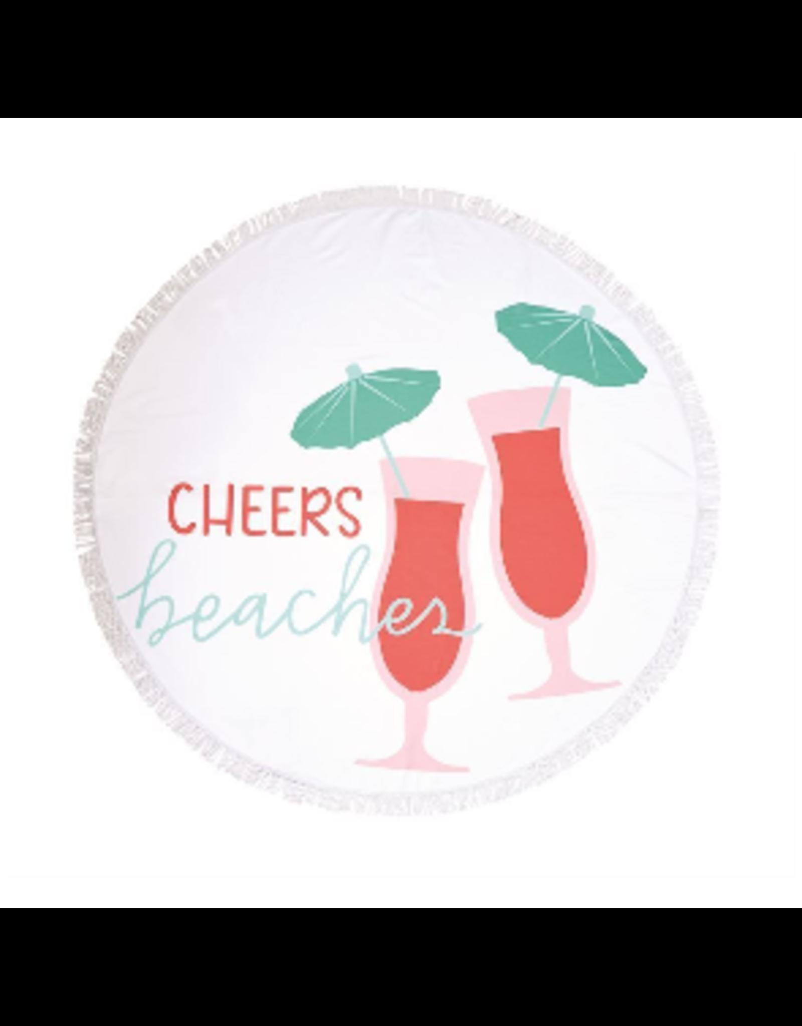 Mud Pie Cheers Beaches Circle Towel