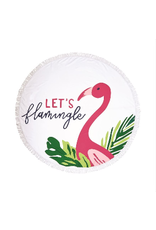 Mud Pie Let's Flamingle Circle Towel