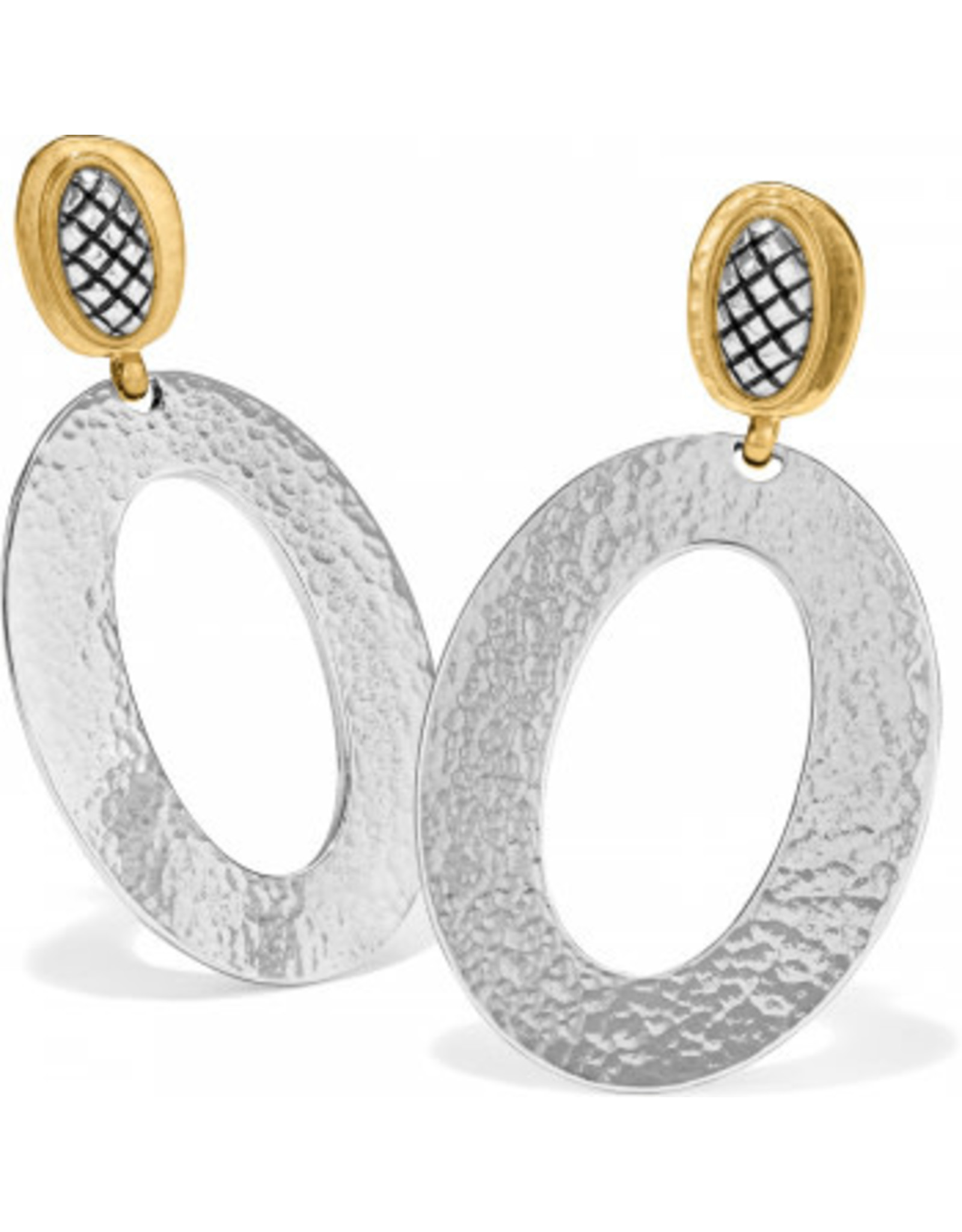 Brighton Ferrara Artisan Two Tone Drop Earrings