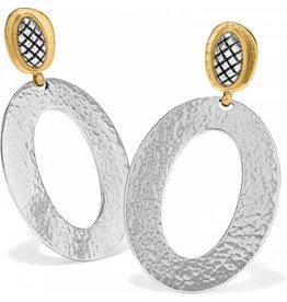 Brighton Ferrara Artisan Two Tone Drop Earrings
