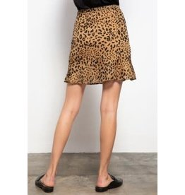 Mittoshop Leopard Print Ruffled Skirt
