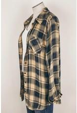 Mystree Inc. Garment Wash Plaid Shirt