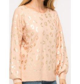 Mystree Inc. Shiny Leopard Sweater