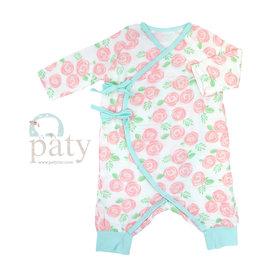 Paty Inc. Rose Print Wrap Romper