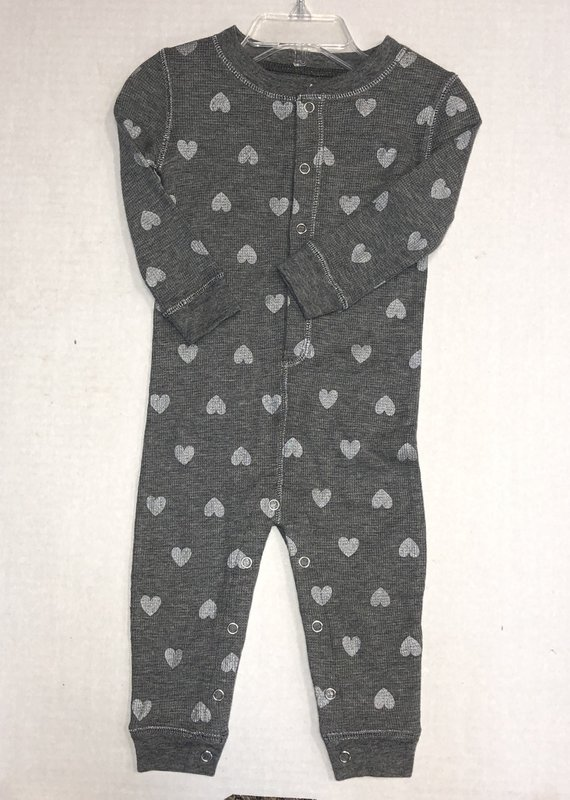P.J Salvage Heart Thermal Romper-6/12M