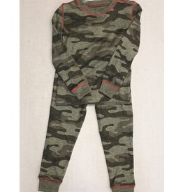 P.J Salvage Camo Thermal 2pc Pajama Set-3T