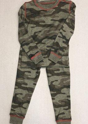 P.J Salvage Camo Thermal 2pc Pajama Set-3T