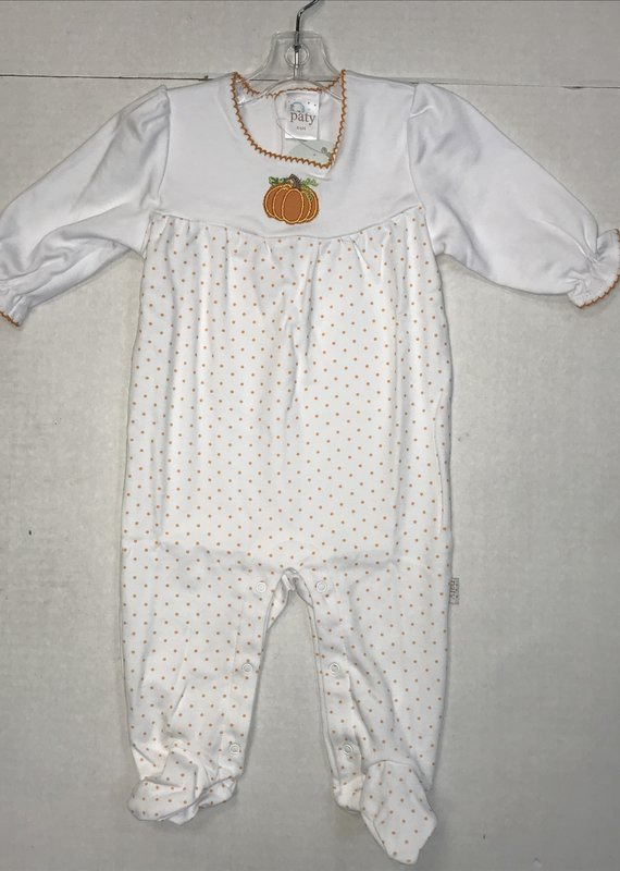 Paty Inc. Dotted Pumpkin Sleeper-6/9M