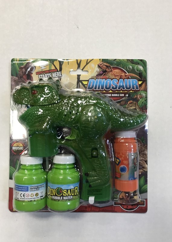 The Burlap Sack Dino Bubble Gun