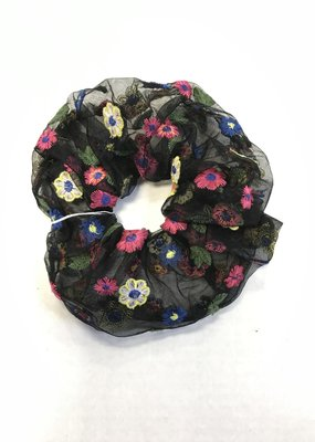 The Burlap Sack Embroidered Scrunchies