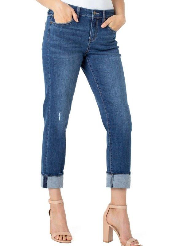 Liver Pool Marley Girlfriend Cuffed Jeans