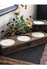 Eleven Point Compass Triple Spanish Oak Candle