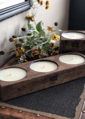 Eleven Point Tree Farm Triple Spanish Oak Candle