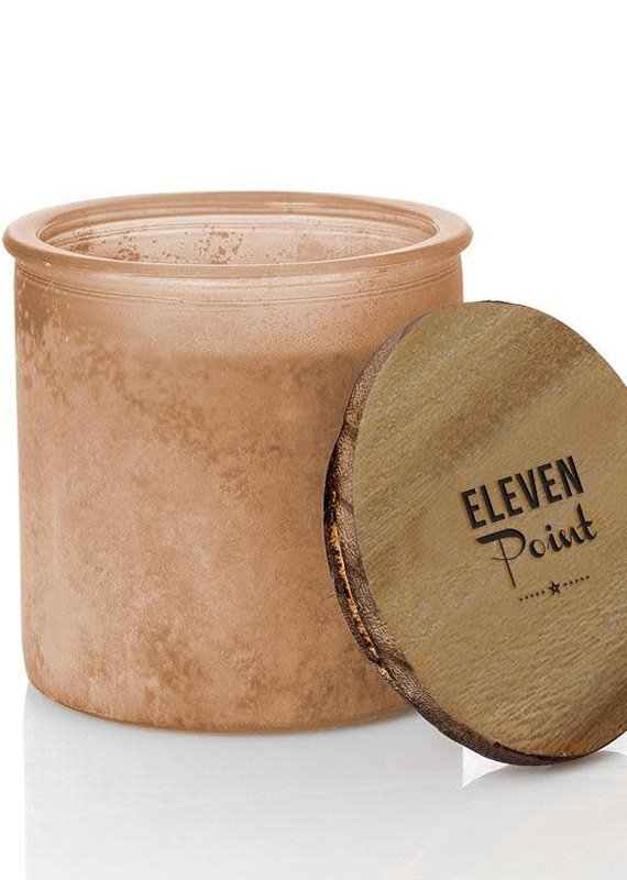Eleven Point Pumpkin Please River Rock Candle in Orange
