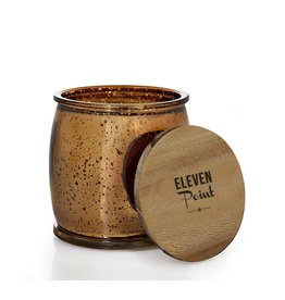 Eleven Point Autumn No. 60 Mercury Barrel Candle in Bronze