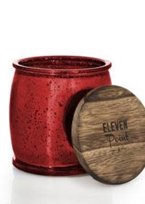 Eleven Point Holiday No. 11 Mercury Barrel Candle in Red