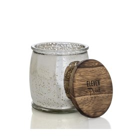 Eleven Point Silver Birch Mercury Barrel Candle in Silver
